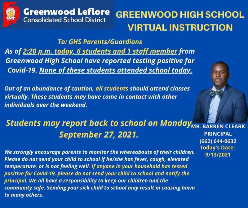 Virtual Classes for Greenwood High School Featured Photo
