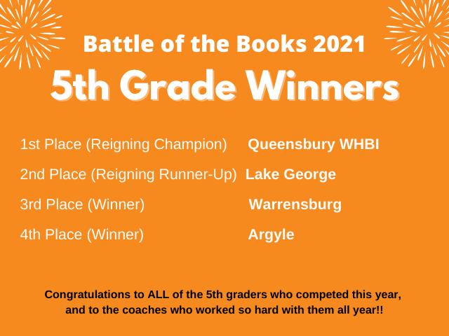 BOTB 5th grade winners
