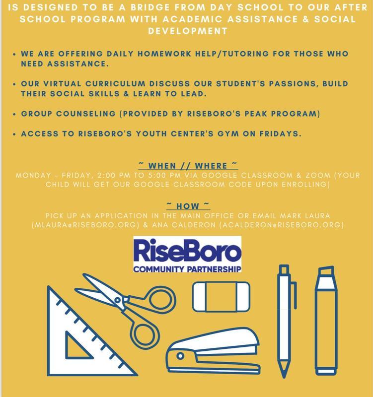 Riseboro Program Flyer English