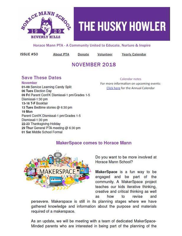 The Husky Howler - November 2018 Featured Photo