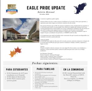 Eagle Pride Update Octubre
