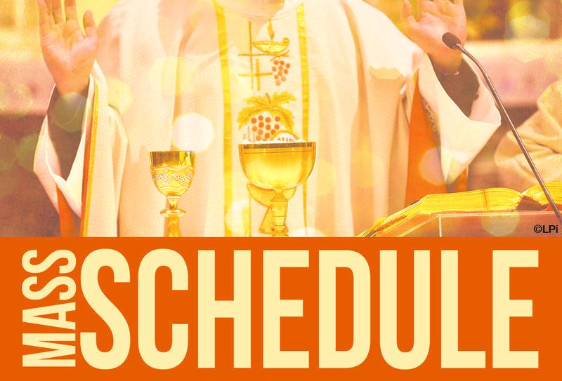 New Mass Schedule Thumbnail Image