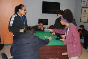 kids playing UNO