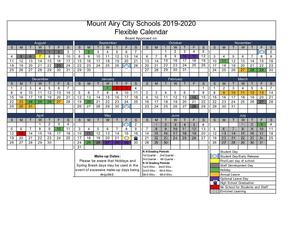 Flexible Calendar for 2019-2020 school year - Proposed but not approved