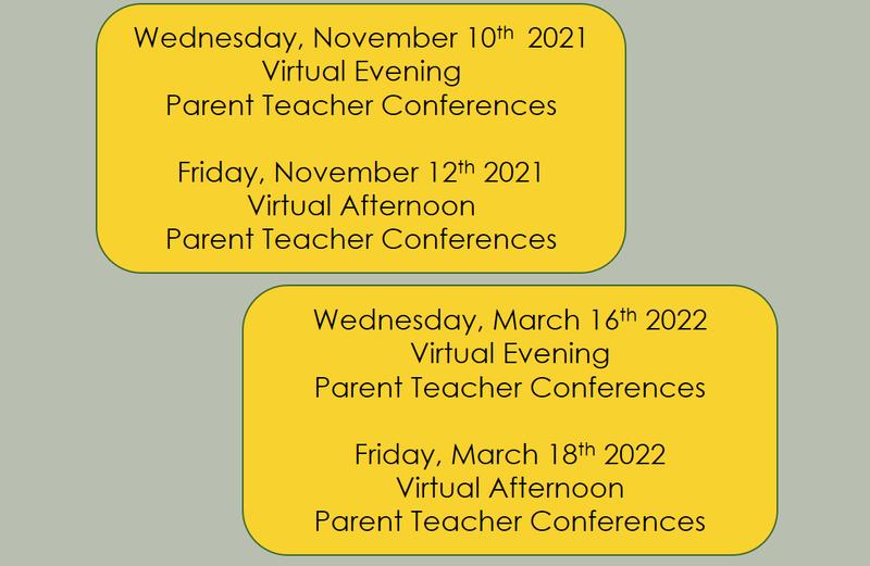 Parent Teacher Conferences 21-22