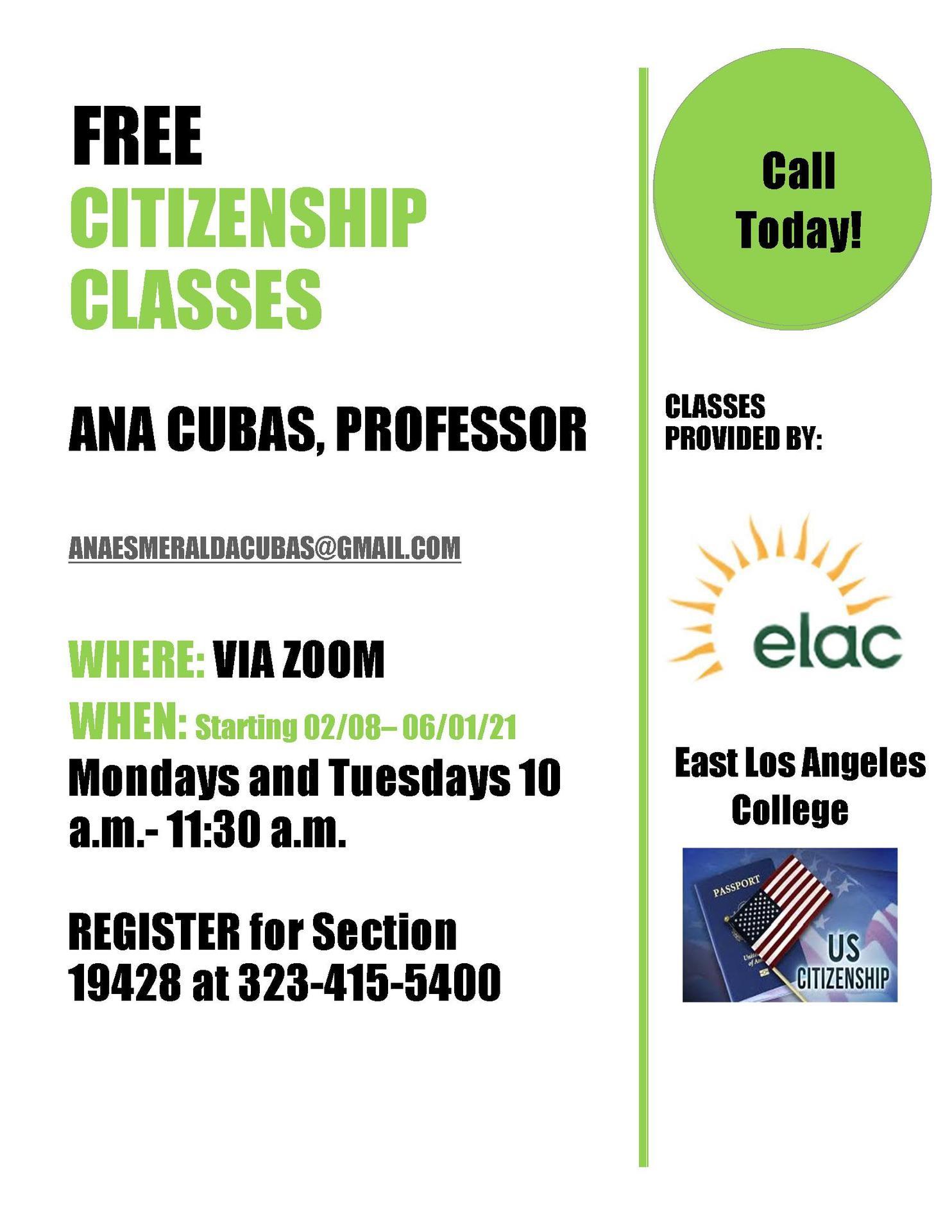 ELAC Citizenship Class
