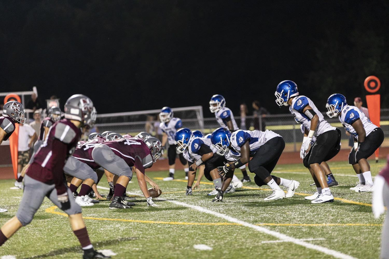 Naugatuck football team plays against Crosby High School at home
