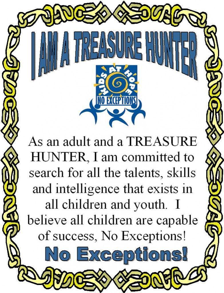 Treasure Hunter Pledge