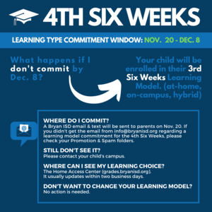 4th Six Weeks Commitment Graphic