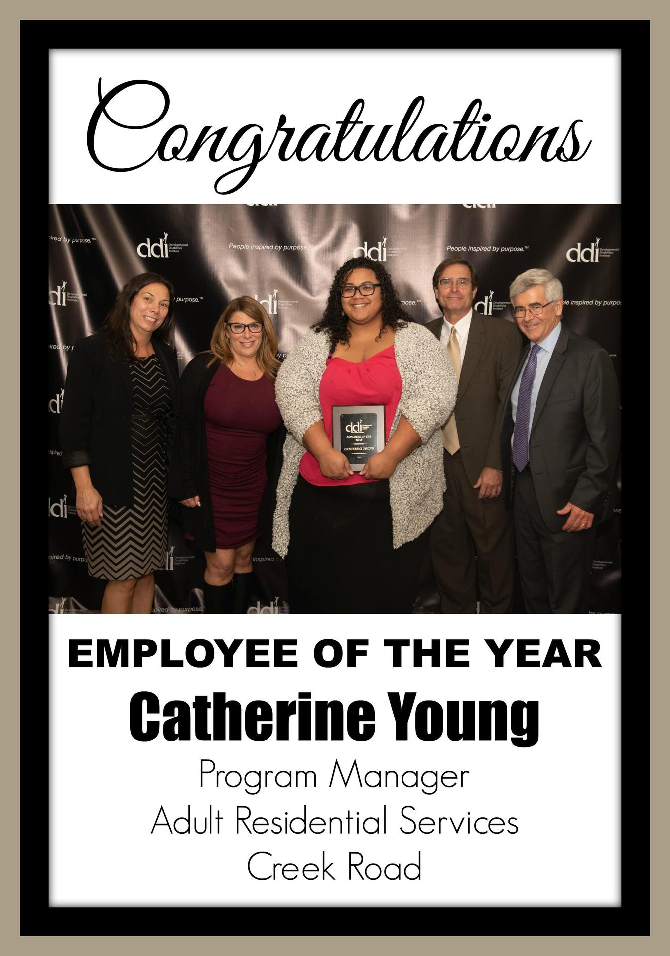 Employee of the Year Catherine Young