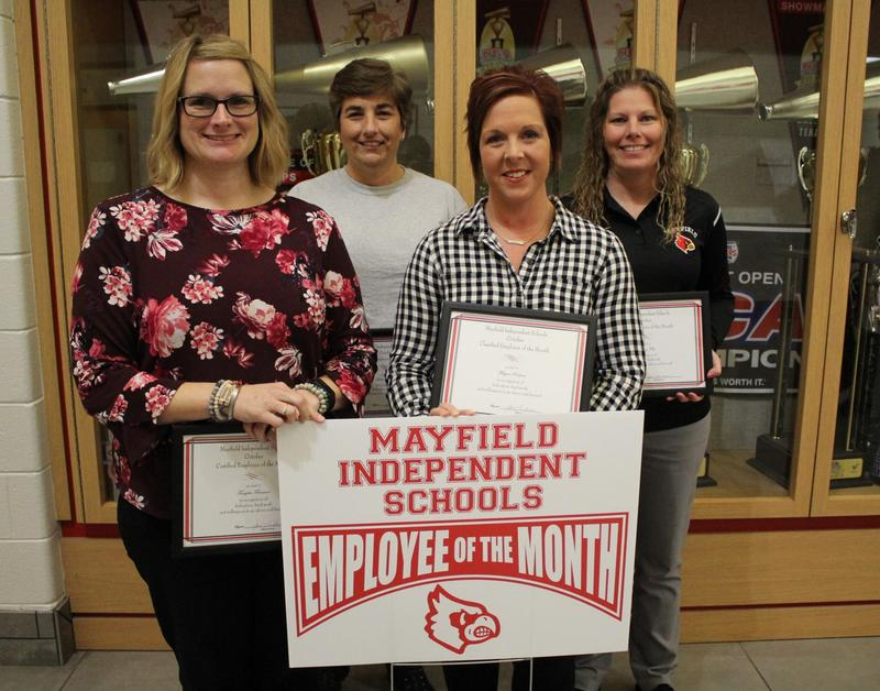 October 2019 Employees of the Month: Tangela Freeman,  Megan Roher, Beth Sullivan, and Penny Felts