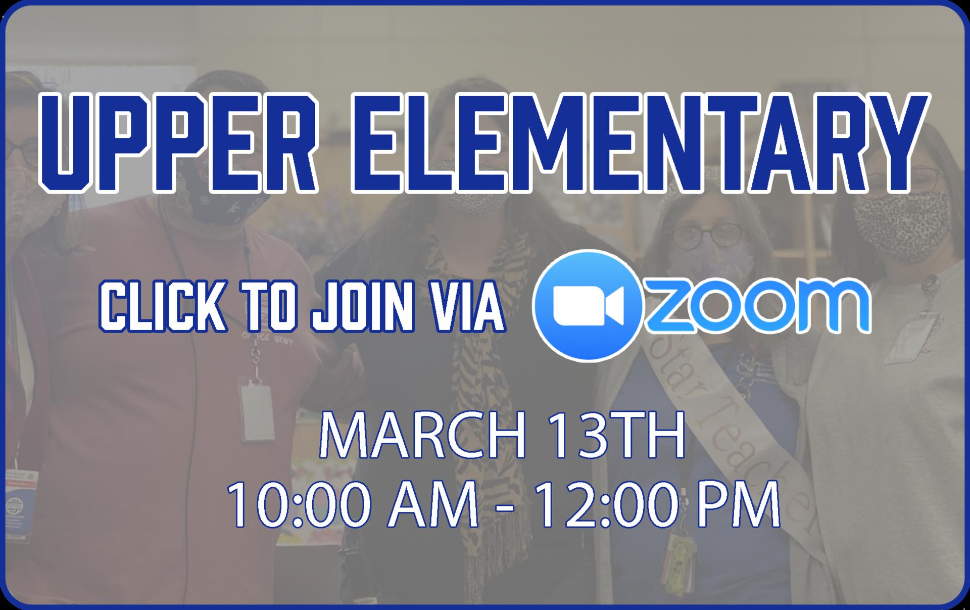 Upper Elementary Zoom Link