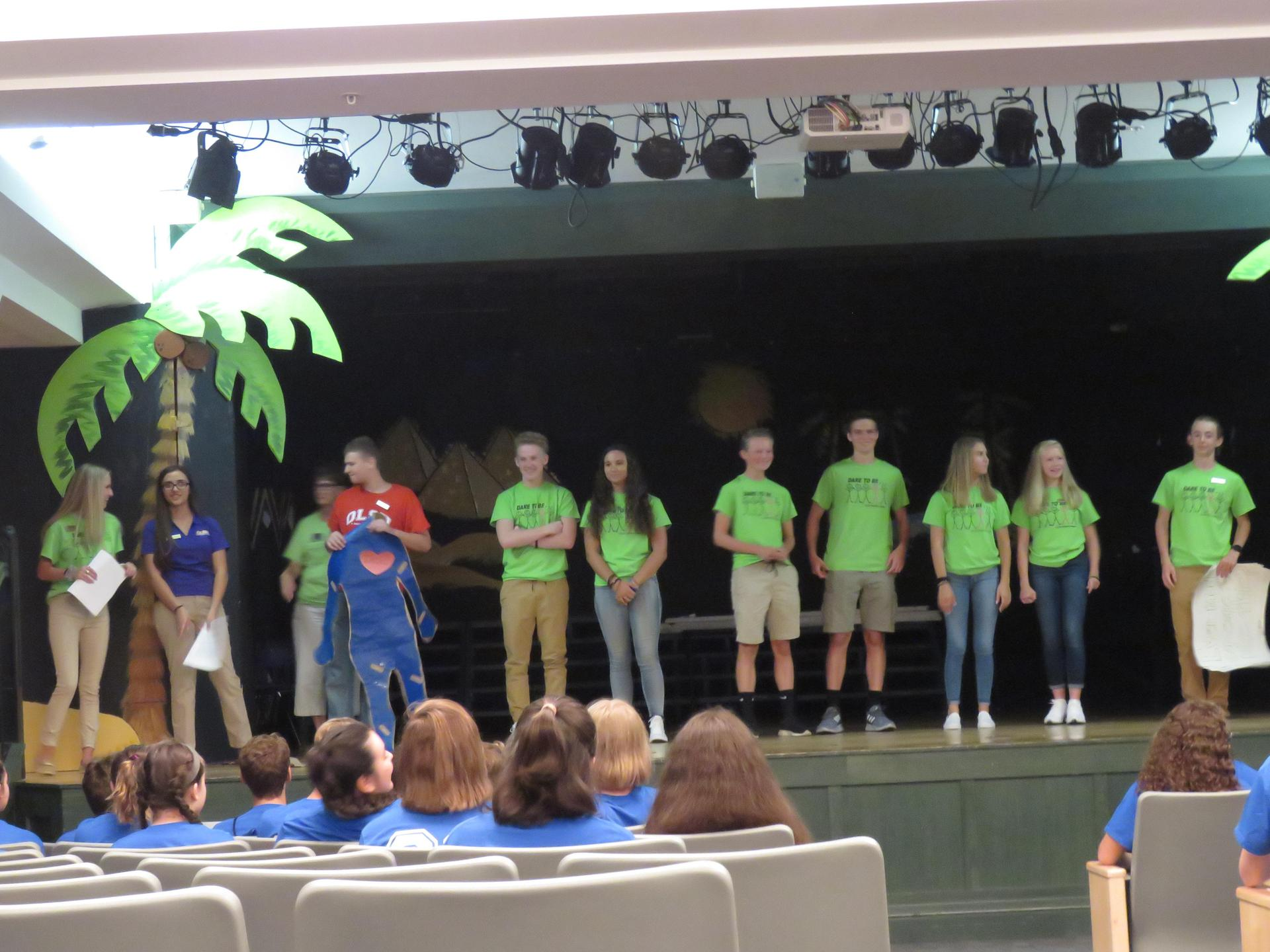 The Character Alliance shares the IALAC story with the freshman class.