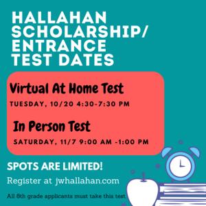 Hallahan Scholarship Test Dates.png