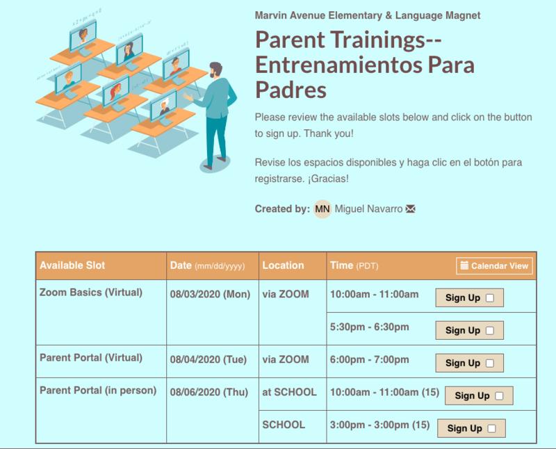 Parent Trainings-- Entrenamientos Para Padres Thumbnail Image
