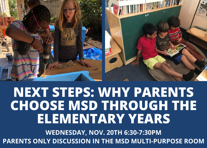 Come join current Elementary parents to learn more about why they chose MSD and why they're glad they stayed through the Elementary years. Featured Photo