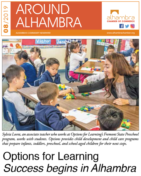 Options for Learning Highlighted in Around Alhambra Newspaper Featured Photo