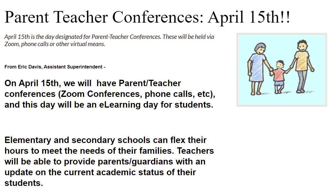 Parent Teacher Conference 04/15/2021
