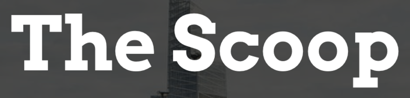 The Scoop superimposed on the NYC skyline