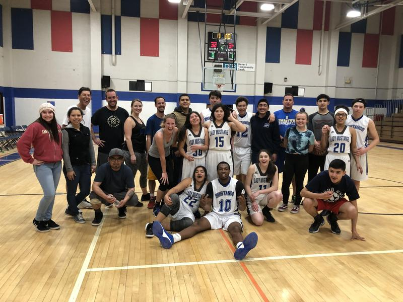 Photos: Varsity Basketball Players Prevail Over Staff Featured Photo