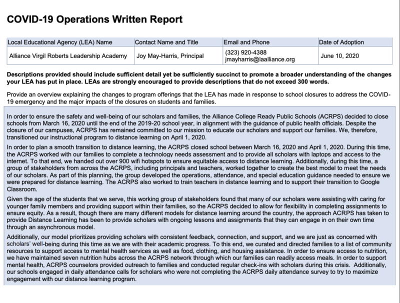 COVID-19 Operations Written Report Thumbnail Image