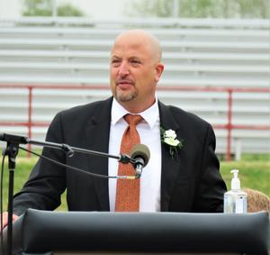 TK Superintendent Dan Remenap congratulates the Class of 2021.