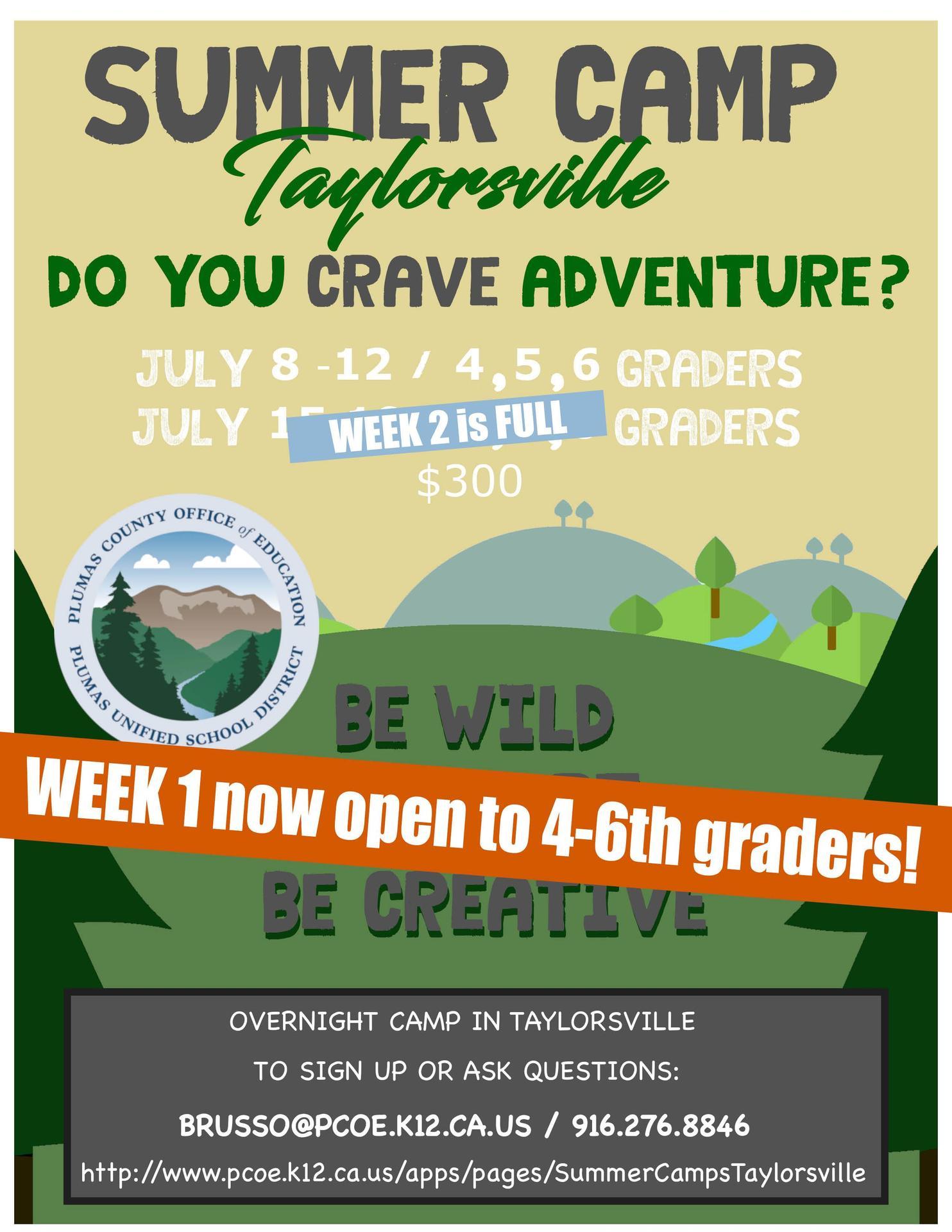 Updated Camp Taylorsville Flyer