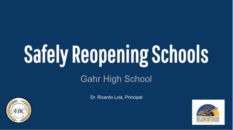 Safely Reopening Plan Presentation
