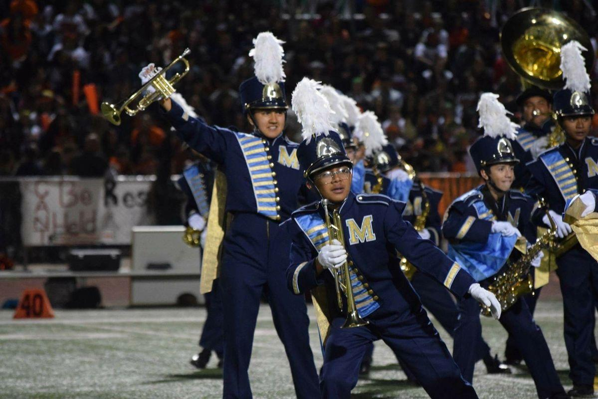 Band during their field show