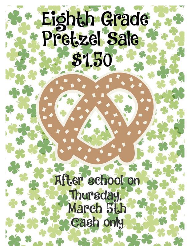 Pretzel Sales Thursday, March 5th Featured Photo