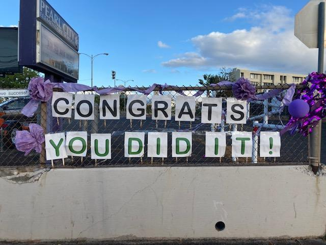 Congrats, You Did It! Sign