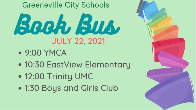 July 22 book bus schedule