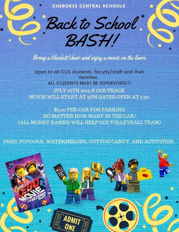 Back to School Bash flyer