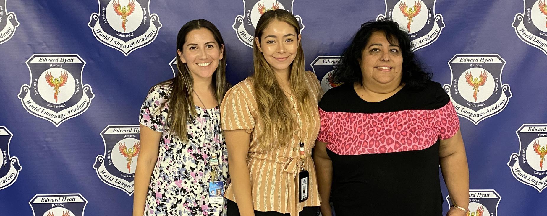 3 women standing
