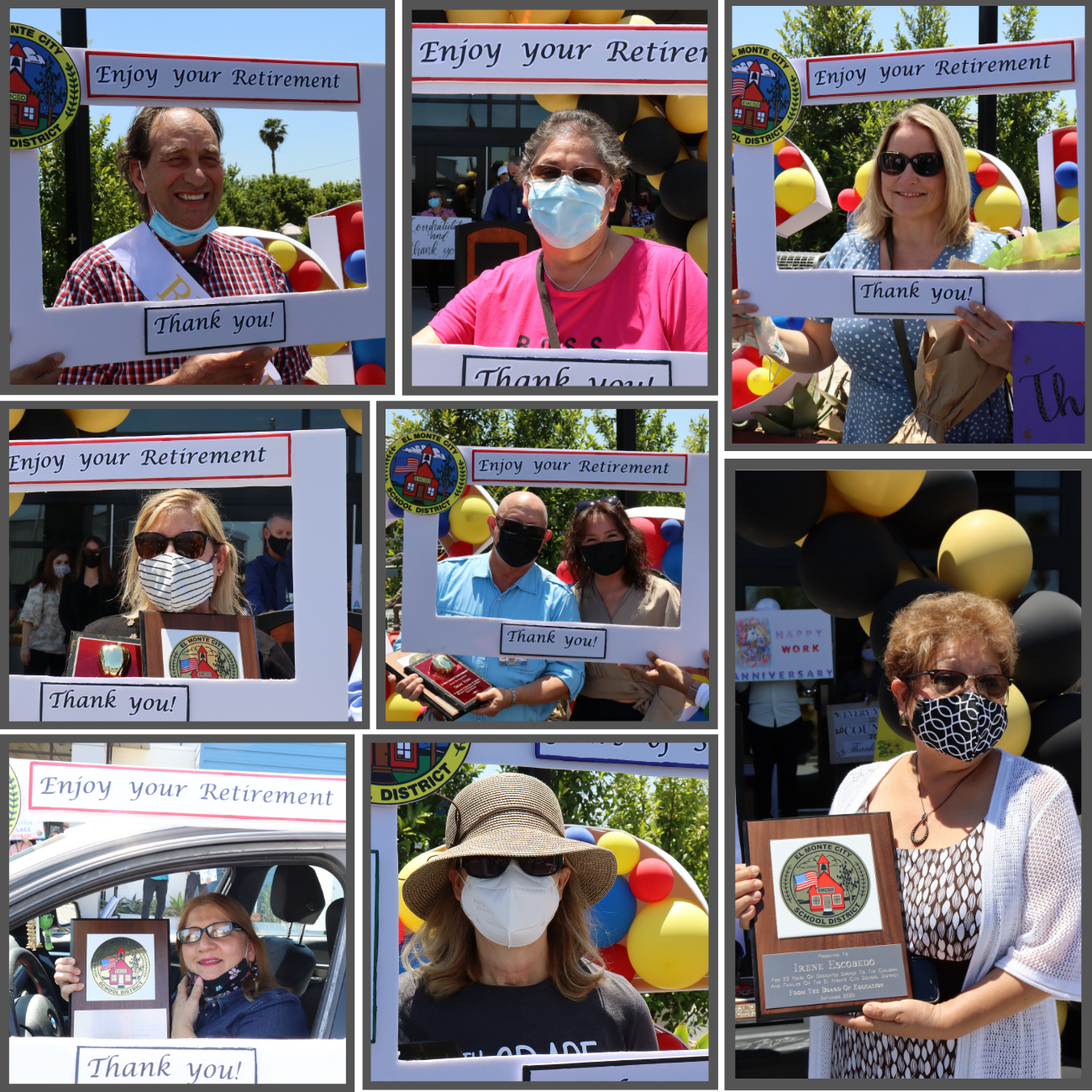 Photos of various EMCSD retirees