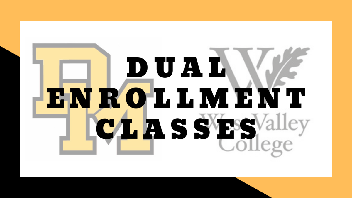 Image of Del Mar and West Valley logos promoting dual enrollment classes