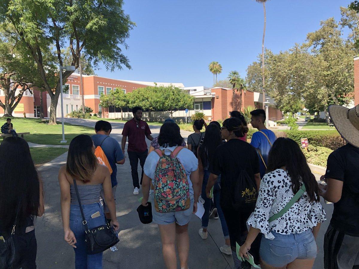 Students walking on Mt Sac campus