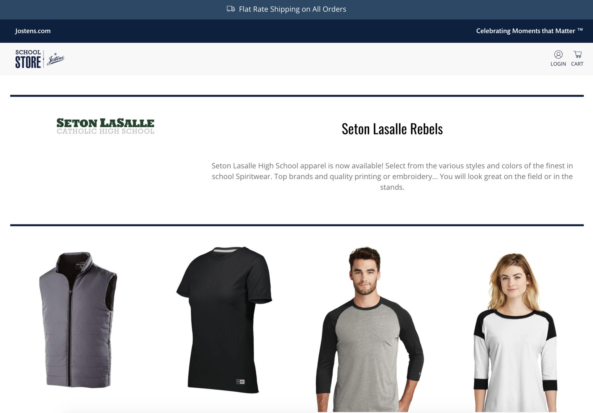 Seton LaSalle online Rebel Gear Shop