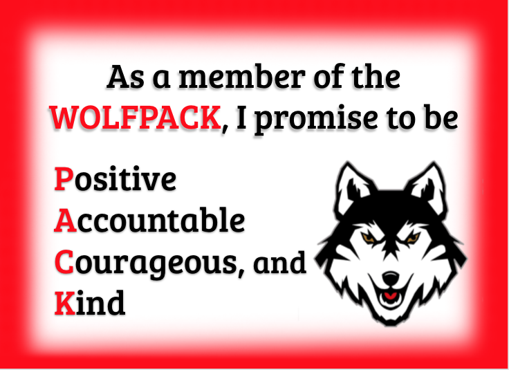 PACK is Positive Accountable Courageous and Kind