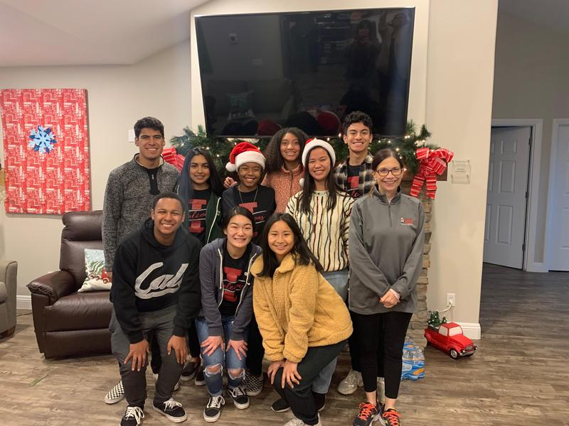 Independence students drop off presents at the Bakersfield Ronald McDonald House