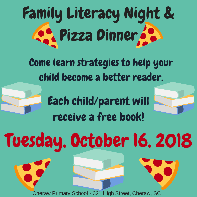 Family Literacy Night & Pizza Dinner - Join Us! Featured Photo