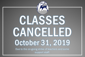 Image Classes Canceled Oct. 31