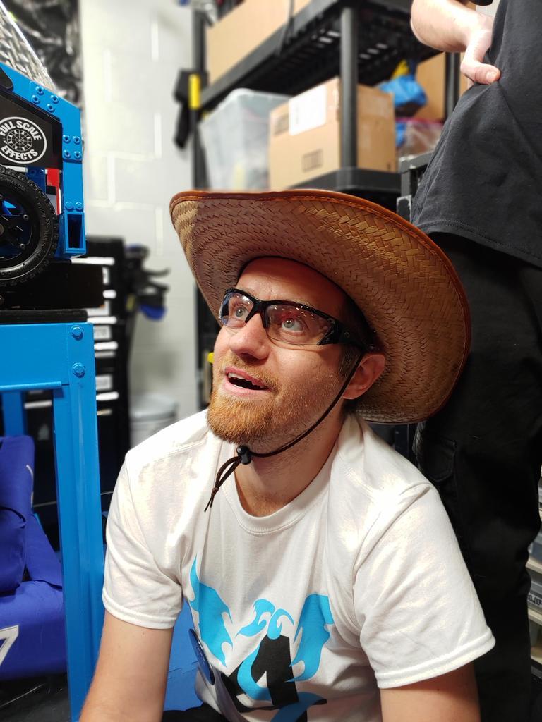 Mr. B in a cowboy hat
