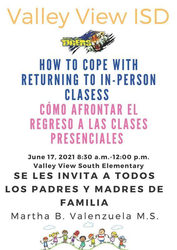 HOW TO COPE WITH RETURNING TO IN-PERSON CLASESS CÓMO AFRONTAR EL REGRESO A LAS CLASES PRESENCIALES Thumbnail Image