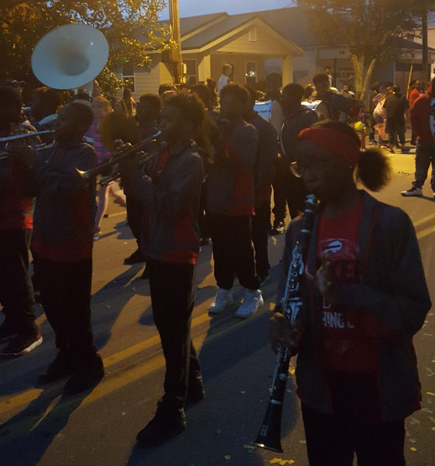 Baker Middle School Band at the Krewe of Neptune, Biloxi, MS
