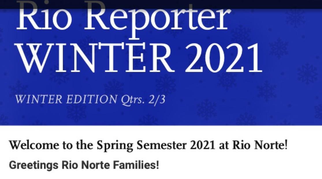 Picture of Winter 2021 Rio Reporter Headline