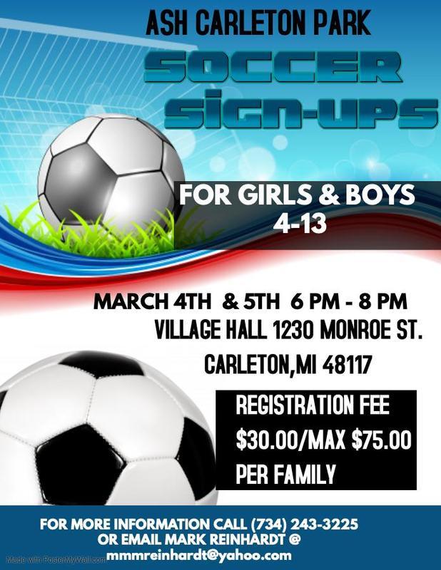Soccer Sign Up