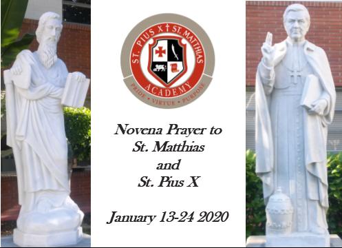 Annual Novena to St. Pius X and St. Matthias Thumbnail Image