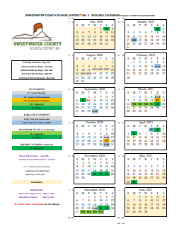 Revised 2020-2021 District Calendar Featured Photo