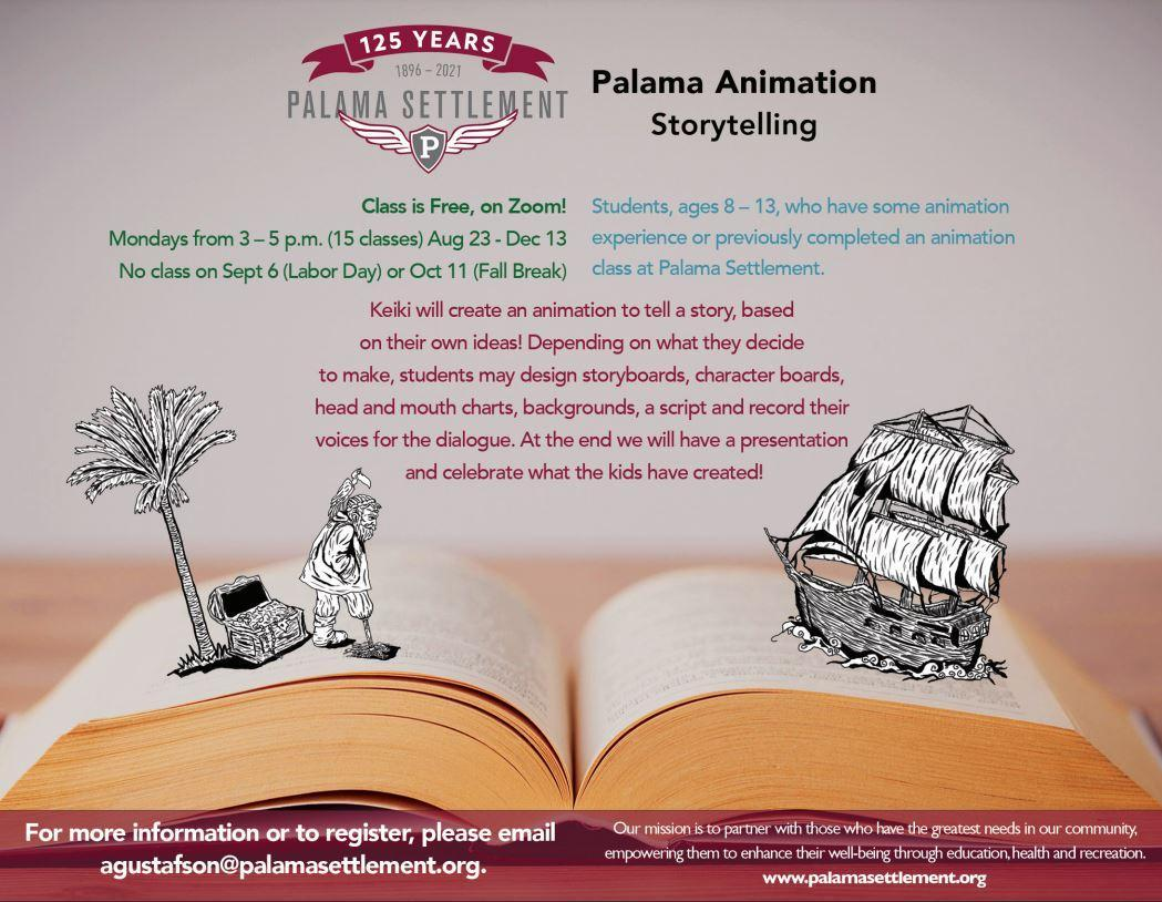 Intermediate Animation Storytelling flier